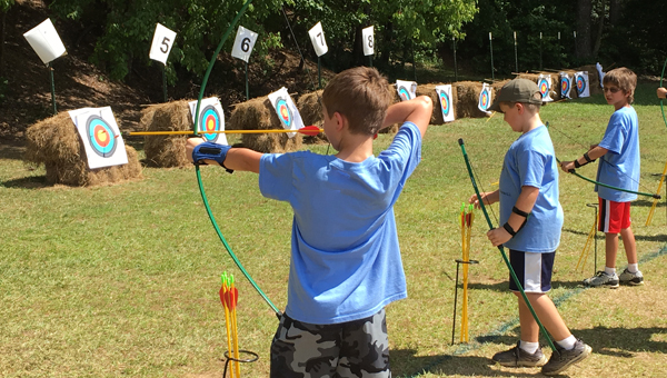 Shelby County Cub Scouts participated in archery, crafts and Scout skill advancement at Oak Mountain State Park from June 6-10. (Reporter photo/Jessa Pease)