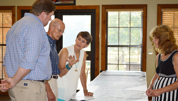 Cutline:  Representative from ALDOT explain the components of the proposed State Park Road improvement project. (Reporter photo/Jessa Pease)