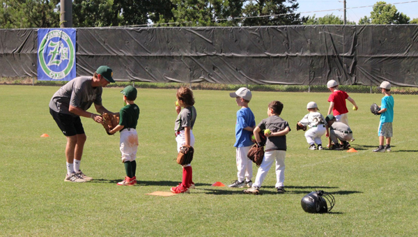 Pelham's baseball camp allowed students entering kindergarten to eighth grade to learn the fundamentals of the game from Pelham High and Riverchase Middle schools' coaches. (Contributed)