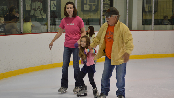 Participants in the Pelham Library's summer reading programs enjoyed free ice-skating at the civic complex with their families June 7 to kick-off the summer's programs. (Reporter photo/Jessa Pease)