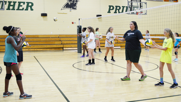 Riverchase Middle and Pelham High schools' volleyball coaches held a youth camp to gain exposure for the program. (Reporter photo/Jessa Pease)