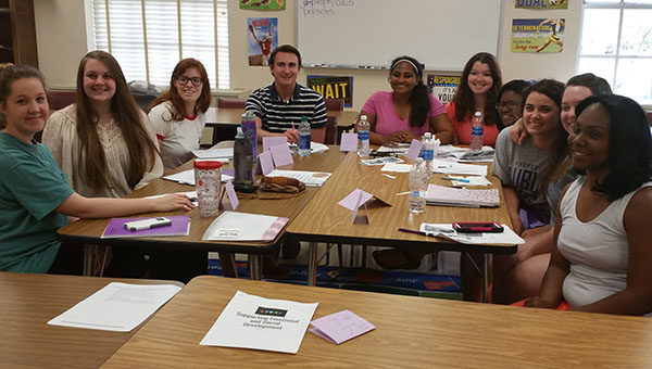 Last semester, Montevallo High School Future Teachers got an insight look at a college class during different community groups. (Contributed)