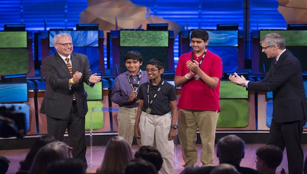 Brock's Gap student Kapil Nathan won third place in the National Geographic Bee.
