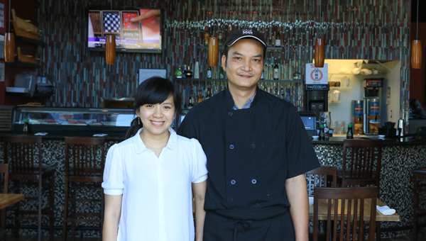 "Oanh ""Kim"" Tran and Huy Nguyen are the owners of Blowfish Sushi on 280."