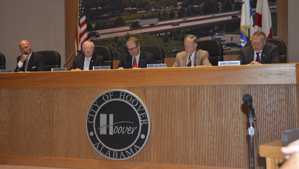 The Hoover City Council rejected a bid for fire department uniforms and accessories June 20 as it was the only bid received. (Reporter Photo/Emily Sparacino)