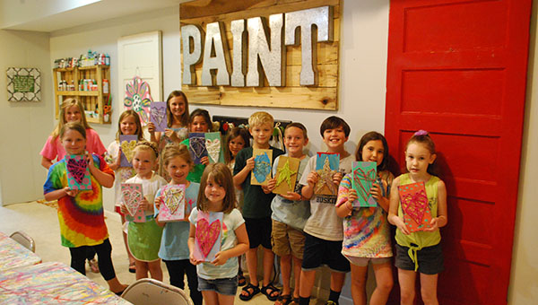 Kids created a variety of craft projects the week of June 13 at Helena's Party Art summer camp. (Reporter Photo/Graham Brooks)