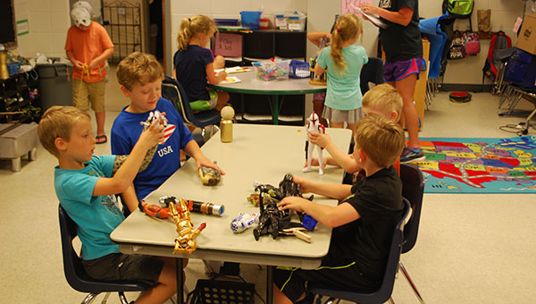 Students participated in a Star Wars STEM summer enrichment camp on Tuesday, June 7 at Helena Elementary School. (Reporter Photo/Graham Brooks)