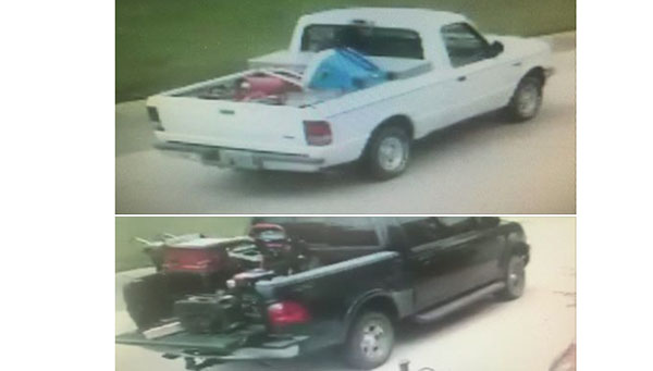 The Helena Police Department is searching for two vehicles allegedly involved in thefts from a local self-storage facility. (Contributed)