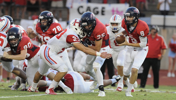 Wyatt Legas will take over the Oak Mountain offense now that Warren Shader has graduated. How Legas handles the Eagles' quarterbacking duties will go a long way toward dictating the kind of year Oak Mountain has. (File)