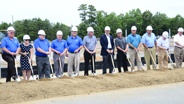 Hoover city officials mark the groundbreaking of a sports complex. The complex will be managed and operated by Clearwater, Fla.-based Sports Facilities Management.