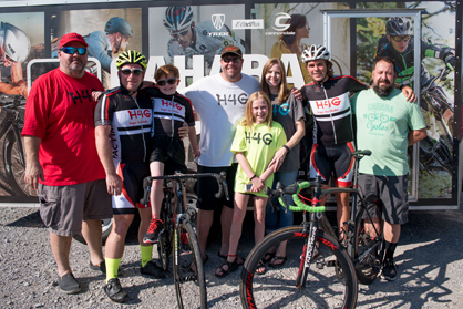 Those involved with planning the cross-country bike ride include Jeff White, Michael Staley, Gabe Griffin, Scott Griffin, Addie Griffin, Traci Griffin, Wes Bates and Jon Bourque with Cahaba Cycles.