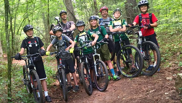Students from Pelham and Mountain Brook took a mountain biking trip to North Carolina with PHS teacher Ryan Dye, who also works as an outdoor instructor with Treeline Expeditions. (Contributed)