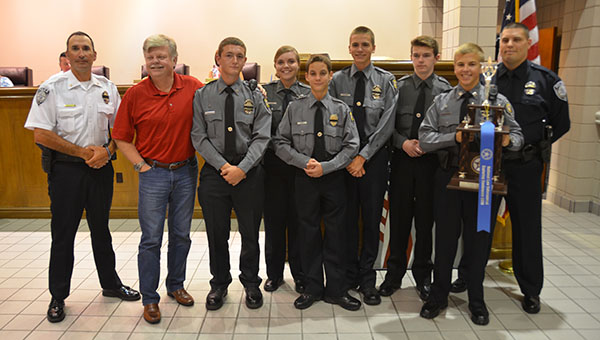 The Helena Police Explorers Post 790 was recognized at the Helena City Council meeting on July 25 for their recent success at a national competition in Flagstaff, Ariz. (Reporter Photo/Graham Brooks)