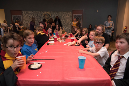 Sixty children were registered to attend the event and encouraged to dress as their favorite characters from the Harry Potter series.