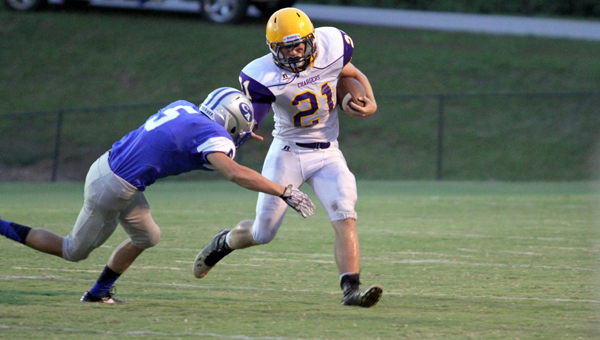 Cornerstone's Logan Tucker will help lead the Chargers' offense in 2016 as Cornerstone makes the transition up to the AISA AA classification. (File)