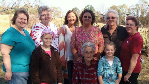 Far left Renee' Wilder and bottom left Mollie Wilder with family. Mollie was diagnosed with cancer in August of 2013 and things didn't look promising. Right now she is beating the disease and her mother has one of the most popular blood drives in the state. (Contributed)