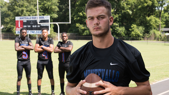 Montevallo quarterback Zac Oden, along with skill players Ahmad Edwards, Tre'Shawn Brown and Daqwan Bryant are ready to step into the limelight this fall. (Reporter Photo / Keith McCoy)