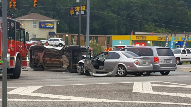 A wreck at the intersection of U.S. 31 and Stonehaven Trail on Aug. 20 injured two people. (Contributed)