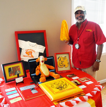 Luther Jarmon, Jr. showed a collection of memorabilia from his college years at Tuskegee University where famous graduates include Tom Joyner, radio host, Marilyn Mosby, Baltimore City State's Attorney and singer Lionel Ritchie and The Commodores. (Contributed)