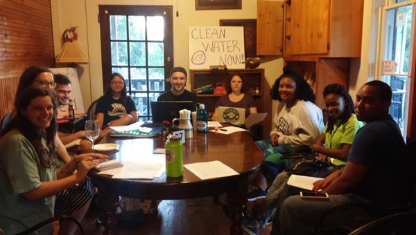 Members of the University of Montevallo's Environmental Club meet to discuss a new student lead campaign. (Contributed)