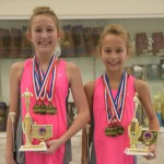 Sisters and Oak Mountain students Sally Otts and Susan Otts won state titles and placed high in a national twirling competition. (Photo by Bob Fitzgerald)