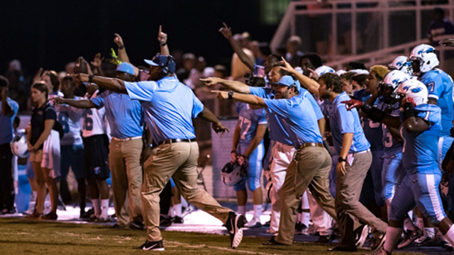 The Calera Eagles game back from a seven-point fourth quarter deficit to beat Dallas County on the road 25-22. (File)