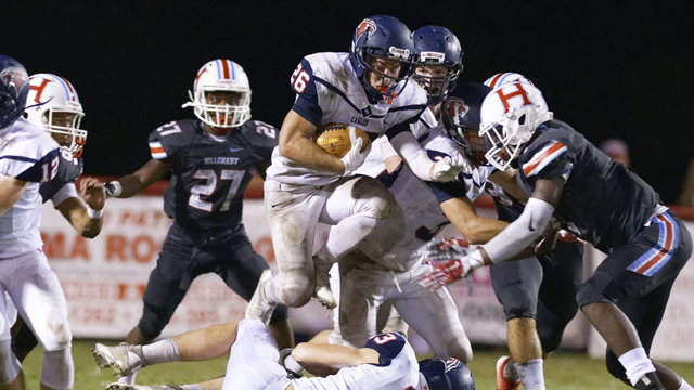 Daniel Salchert finished with 104 yards on the ground against Huffman on Sept. 2, but it wasn't enough, as the Eagles fell to Huffman 21-11. (File)