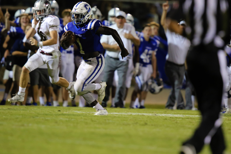 Zalon Reynolds rushed for three touchdowns, all of which came in the first half, as he helped lead Chelsea to a 63-35 win over Chilton County on Oct. 14. (File)