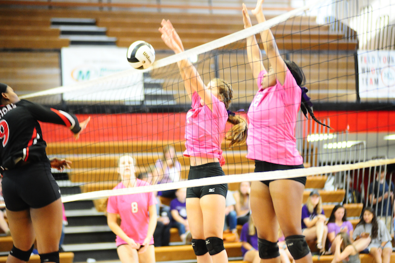 The Pelham Lady Panthers beat rival Thompson 3-1 on Oct. 13 in a match that helped raise awareness and money for the Jamie Kimble Foundation for Courage. (Reporter Photo / Baker Ellis)