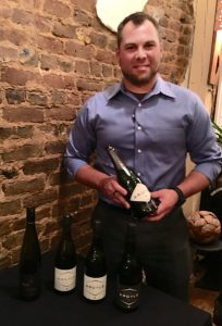 Ian Willicott, with Alabama Crown Distributing Company, presented five wines from Oregon's Willamette Valley Wine Region at the most recent wine pairings at the Coal Yard. (Contributed)