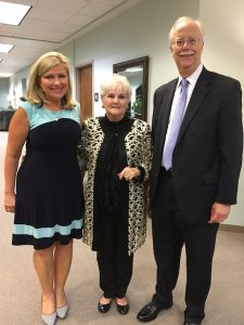 Special guest Brenda Ladun spoke at the 10th Annual Cancer Survivor Dinner hosted by the Novella Club.Ladun is pictured with Novella Club Vice President Pat Ponder and special guest Judge Jim Fuhrmeister. (Contributed)