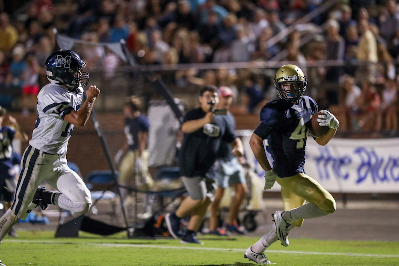 Carson Eddy and the Briarwood Christian Lions remained ranked as the No. 9 team in the 5A class in the Week 10 poll. (File)