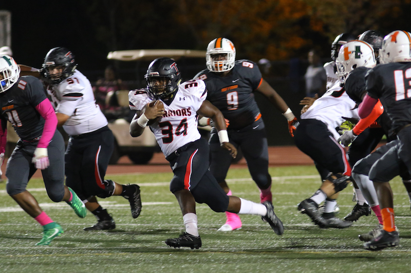 Joseph Ford and the Thompson Warriors beat Huffman High School in a crucial region matchup on Oct. 14, 13-7 in overtime. (File)