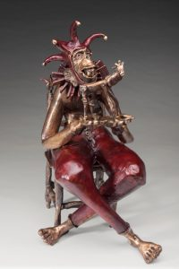 """Nelson Grice's bronze sculpture """"Storytime"""" earned him the Best in Show award in the 8th Annual Adult Juried Art Show. (Contributed)"""