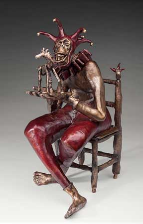 """Nelson Grice's bronze sculpture """"Storytime"""" earned him the Best in Show award in the 8th Annual Adult Juried Art Show held by the Shelby County Arts Coucil."""