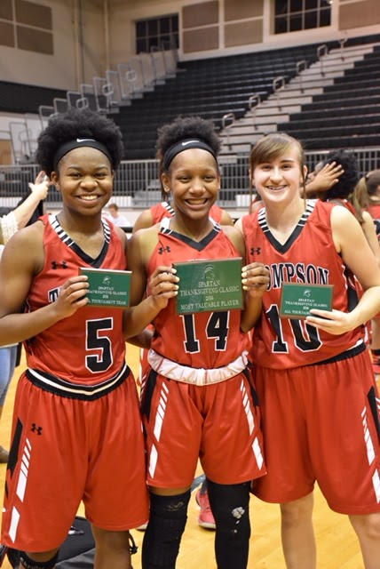 From left, Kayanne Bolton, Niya Oden and Lauren Black, were all named to the All-Tournament team. Oden was named the tournament's MVP. (Contributed)