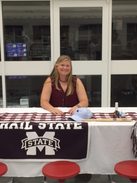 O'Neil Roberson officially signed her NLI to play softball in the SEC with Mississippi State on Nov. 10. (Contributed)