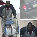 Store surveillance video captured these images of the man suspected of stealing merchandise from the Walmart off U.S. 280. (CONTRIBUTED)