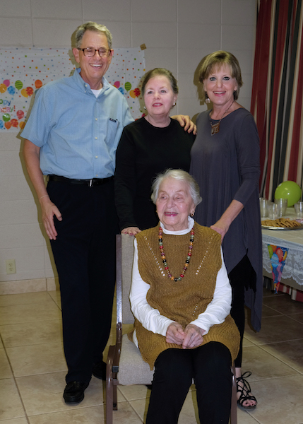 Tina Kilpatrick celebrates her 100th birthday with family and friends. (Photo by Laura Brookhart)
