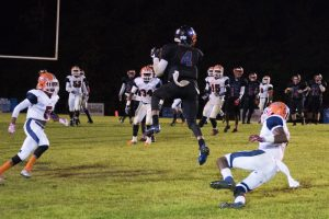 Tre'Shawn Brown catches a pass for Montevallo during the season. The talented receiver was up for Player of the Year in the county and honestly should've been higher than the second team. (File)