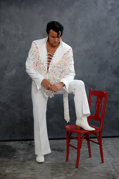 Local Elvis impersonator Terry Padgett will perform Elvis holiday songs at the Shelby County Arts Council on Dec. 9. (Contributed)