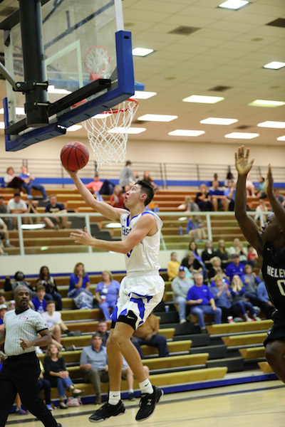 Chelsea senior leader Joseph Lanzi had a game-high 17 points to lead the Hornets to a win over rival Oak Mountain. (For the Reporter/Cari Dean)